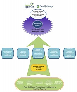Palm Healthcare Foundation's Theory of Change for the Healthier Together Initiative