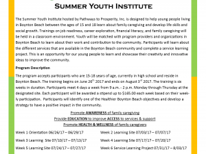 Healthier Boynton Beach Summer Youth Institute