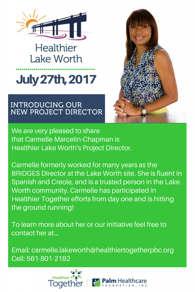 Let's welcome Carmelle to the Healthier Together team!