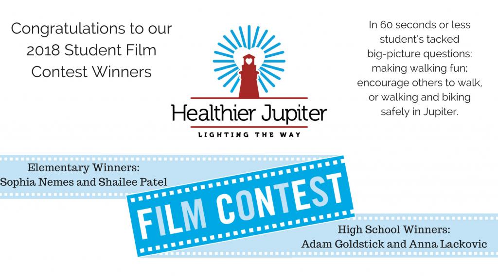 Healthier Jupiter Announces 2018 Student Film Contest Winners